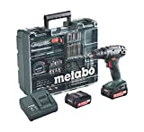 Metabo BS 14.4 Set Mobile Workshop 74 ACC 2 Amps Single Electric Cordless 14.4 Volt Drill/ Auto-Tightening Chuck