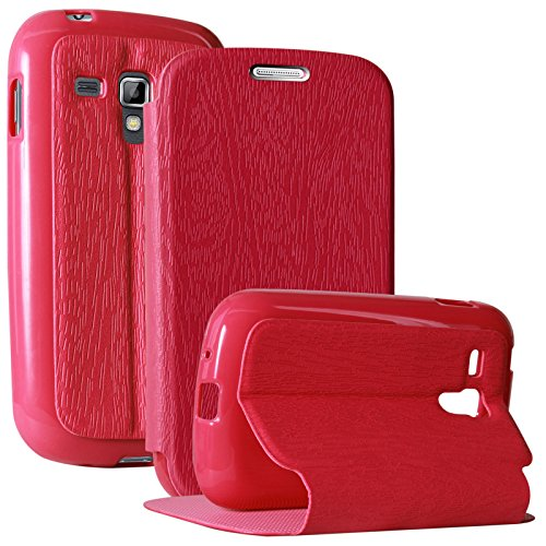 DMG Lishen Textured Flip Cover Stand View Case for Samsung Galaxy S Duos S7562 (Magenta)  available at amazon for Rs.219