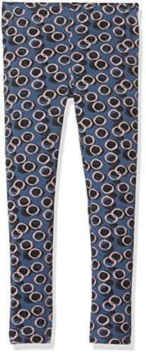 NAME IT Baby-Mädchen Nitvivian Aop Legging F MZ G, Mehrfarbig (Ensign Blue Aop:Circles), 104 (Bio-baumwolle Stretch-hose)