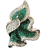Grün Blattform übertrieben Blatt Ringe für Frauen Großen Ring Blattring Modeschmuck (57 (18.1))