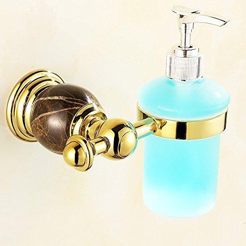 ische Antike Gold Jade Badezimmer Seifenspender Hand Sanitizer Tasse Halter Badezimmer Zubehör ( farbe : Coffee Jade ) ()