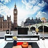 3D Murales Papel Pintado Pared Calcomanías Decoraciones Fondo De Sala De Estar De Estilo Europeo, Ciudad, Paisaje De Londres, Sala Big Ben, Hotel De Paisaje Art º Los Niños Cocina (W)300X(H)210Cm