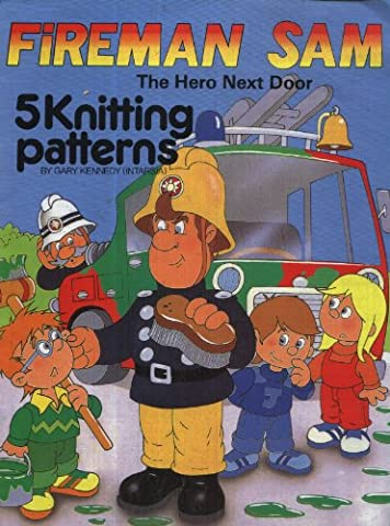 Fireman Sam The Hero Next Door : 5 Intarsia Knitting Patterns : Family Sweaters (24-44in)