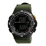 Orologio da polso sportivo SKMEI Digital Water Resistant Pedometer Cronometro Uomo orologi da polso (Verde)