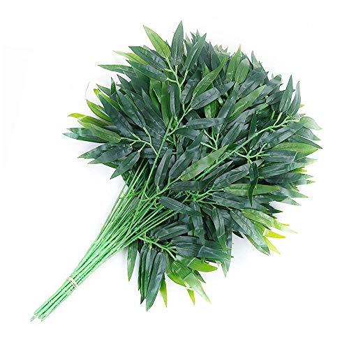 Aolvo Künstliche Eukalyptusblätter, für Garten, Hochzeit, Zuhause, Outdoor, 12 Stück