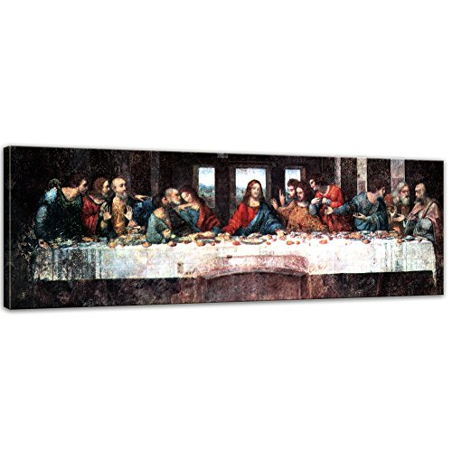 Bilderdepot24 Kunstdruck - Alte Meister - Leonardo da Vinci - Das Abendmahl - Panorama 90x30cm...