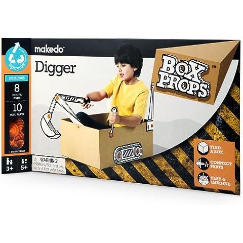 Makedo Boxprops Transport Aeroplane - Accesorios para crear una escavadora de cartón
