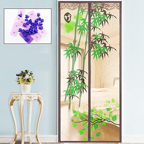 Magnet vorhang, Mute Moskito vorhang Wand vorhang Selbstklebend Verschlüsselung Magnetisch weich bildschirm Schlafzimmer Küche-A 90x200cm(35x79inch)