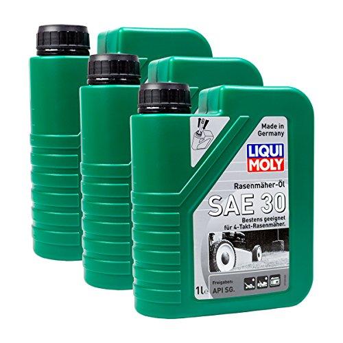 Preisvergleich Produktbild 3x LIQUI MOLY 1264 Rasenmäher-Öl SAE 30 Motoröl API SG 1L