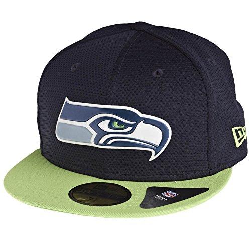 New Era Seattle Seahawks Diamond Chromed Logo 59FIFTY Fitted NFL Cap 7 (New Era-diamond-hut)