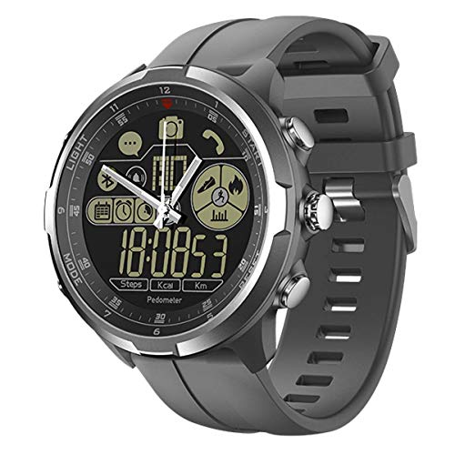 HFJ&YIE&H Smartwatch Vibe 4 Hybrid,Superleicht Robuster Hybrid Smartwatch 50m wasserdicht 24 Monate Standby-Zeit 24h Allwetter Überwachung Intelligente Uhr für Android iOS,C