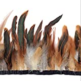Sowder Rooster hackle Feather Fringe Trim 5 – 17,8 cm in larghezza confezione da 4,6 m Natural