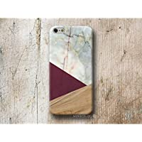 Burgund Holz Weiß Marmor Hülle Handyhülle für iPhone 4 4s 5 5se se 5C 5S 6 6s 7 Plus iPhone 8 Plus iPod 5 6