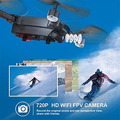 Eloka 2.4G Wifi FPV RC Drone with 2MP 120° Wide Angle HD Camera, Foldable RC Quadcopter Altitude Hold 3D Flips Rolls 6-Axis Gyro Gravity Sensor Selfie Drones