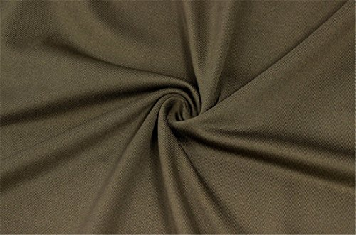 QIYUN.Z Les Femmes De La Mode Robe Mini Robe Sans Manches Dames D'Ete Haute Col Mince Chaud Vert