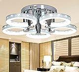 Moderno LED Lampadario plafoniera con lampada da soffitto a 5 testa per camera cucina e soggiorno sala da pranzo, silver