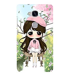 Vizagbeats Girl in Pink Back Case Cover for Huawei Honor 5X
