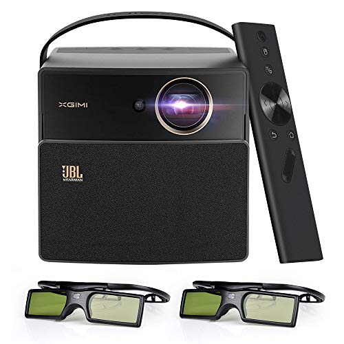 XIGMI CC Aurora Dark Knight 3D LED DLP-Heimprojektor, gebaut in 20000 mAh Akku und JBL Lautsprecher, Unterstützung 1080P 4K, Bonus Exquisite Tragetasche + DLP Link Active 3DGlasses... - Jacke-unterstützung