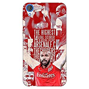 Jugaaduu Arsenal Therry Henry Back Cover Case For HTC Desire 820 Dual Sim