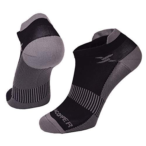 Thx4Copper Kompression Laufen Socken für Herren und Women-Copper infundiert No Show Kissen Socken für Wandern, Radfahren, Athletic, S/M - Herren Kompression Socken