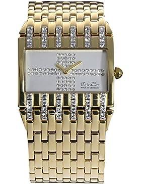 Carpe Diem -Selene- rechteckige Damenarmbanduhr / Damenuhr - mit weißem Zifferblatt