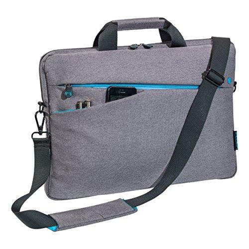 """PEDEA Notebooktasche """"Fashion"""" für 17,3 Zoll (43,9cm) mit Zubehörfach, Schultergurt, grau"""