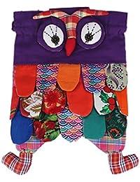 EOZY Enfant Unisexe tissu Art fait à la main chouette en Patchwork Coton-Sac à dos-Cartable