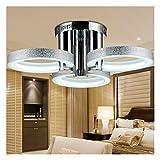 HomeLava 18W LED Deckenleuchte mit 3 Flammig für Wohnzimmer / Schlafzimmer / Hotel, Silber