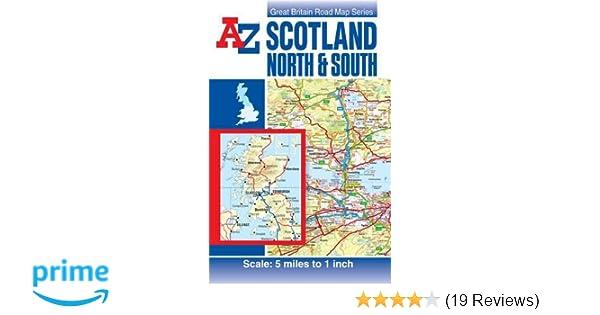Scotland Road Map (A-Z Road Maps & Atlases): Amazon.de: Geographers ...