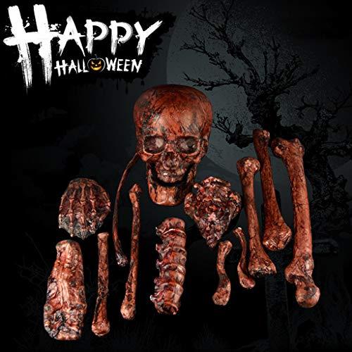 Beste Scary Maske - Eliasan Halloween Kunststoff Skeleton Schädel Knochen