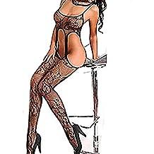 Almacenamiento de Dormir Camisón Bodysuit mujeres sexy lingerie Open Body Stocking, ropa interior