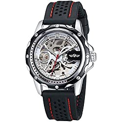 Man, mechanical watch, automatic, casual, personality, luminous, silicone, M0252