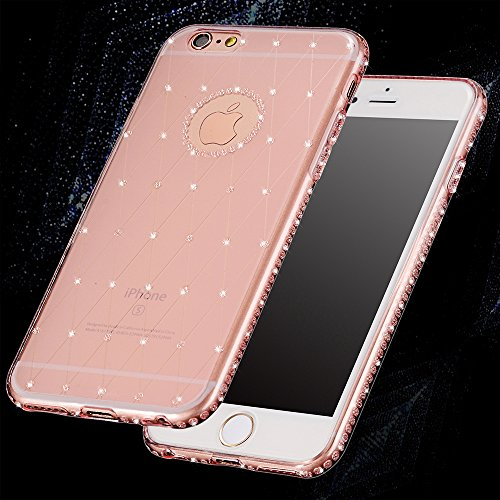 Sunroyal® Coque iPhone 6s Transparent Beau Fairy Fée Bling Diamant TPU Soft Crystal Clear Etui Housse Premium Ultra Mince Strass Case Cover de Protection Bumper pour Apple iPhone 6 / iPhone 6S (4.7 Po Transparente 01