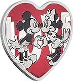 LOVE Herzform Micky Maus und Minnie Disney 1 Oz Silber Münze 2$ Niue 2018