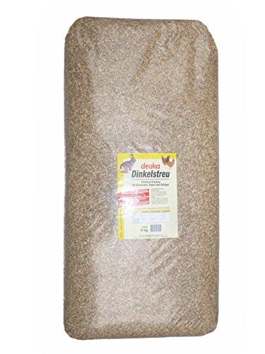 Dinkelstreu - Premium Einstreu für Geflügel und Nager, 1er Pack (1 x 15 kg)