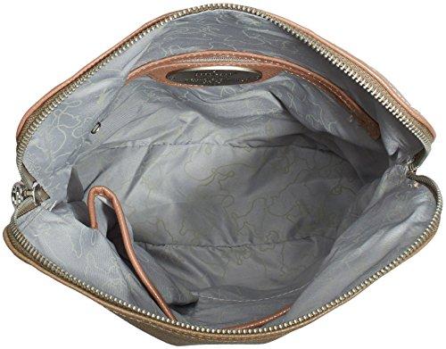 Poodlebag German Couture-bicolor 3GC0115CROSTS Damen Umhängetaschen 28x8x34 cm (B x H x T) Mehrfarbig (mauve/taupe)