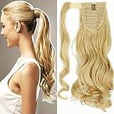 Clip in Extensions Pferdeschwanz Haarteil Blond Gewellt Ponytail Extensions günstig Haarverlängerung 17