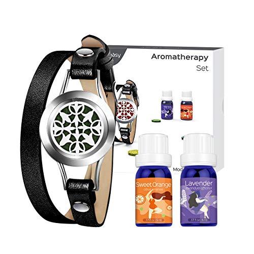VicTsing Homasy Juego Brazaletes Aromaterapia 2x5