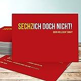 Einladungen zum 60 Geburtstag selbst gestalten, Sechzich 25 Karten, Horizontal einfach 148x105 inkl. weiße Umschläge, Rot