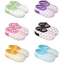 GHB 6 Paar Antirutsch Babysocken Fußsocken für die Kinder von 8-36 Monat