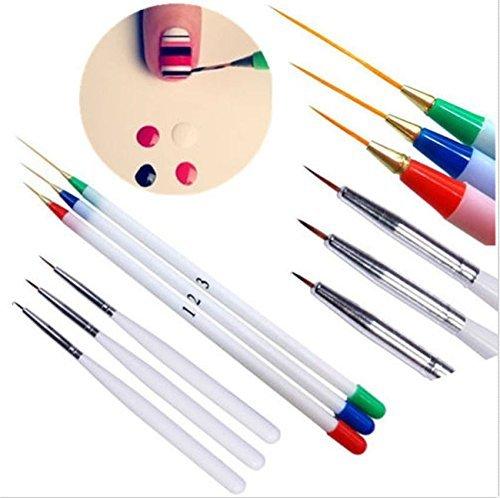 Generic 6PCS French Manicure Nail Art Pen Brush Set Painting Drawing Liner Striping Tool