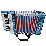 ammoon Mini Petite Clé 17 8 basse accordéon jouet d'Instrument Musical éducatif pour Enfants Cadeau de Noël de Amateur débutant