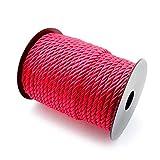 RUBY- Geflochte Kordel, 5 mm, 30-m-Rolle rot