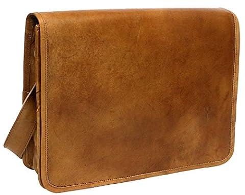 PC Leather Full Flap Messenger Handmade Bag Laptop Bag Satchel Bag Padded Messenger Bag School Bag 15x11x4