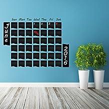 (100x 78cm) vinilo para pared de pizarra de vinilo CALENDARIO Organizador de pizarra adhesivo para dibujar/Borrar Mural/Mes Planificador + Free Crayons Caja