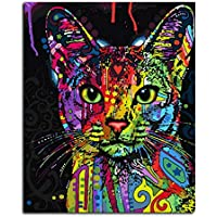 Nette Katze DIY Digital Ölgemälde DIY Malen Nach Anzahl Kit Wand Leinwand