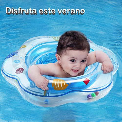 Flotador bebé, Piscina Hinchables Niños Flotadores para Bebe con Asiento Anillo de Natación para Bebés de 1- 4 Años, Inflable Juguetes Regalos ... (Azul)