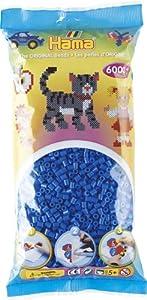 HAMA BEADS 205-09 abalorio Seed Bead Azul 6000 Pieza(s) - Abalorios (Seed Bead, Azul, 6000 Pieza(s), Dinamarca)
