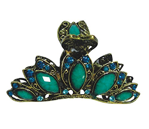 PANACHE Clips & Claws, Green Studs, Women Hair Beauty Accessories, Hair Care & Styling, Hair Styling Tools, Hair Clips, Style 50.  available at amazon for Rs.99