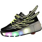 Adingshine Ninos LED zapatos con ruedas y alas